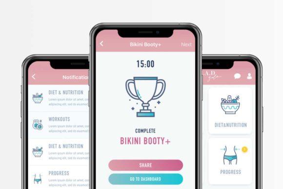 App Boxer design for app called Bikini Booty