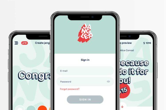 App Boxer design for app called Jangler