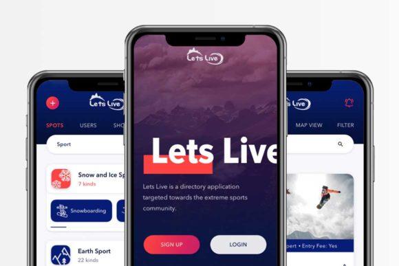 App Boxer design for app called Lets Live